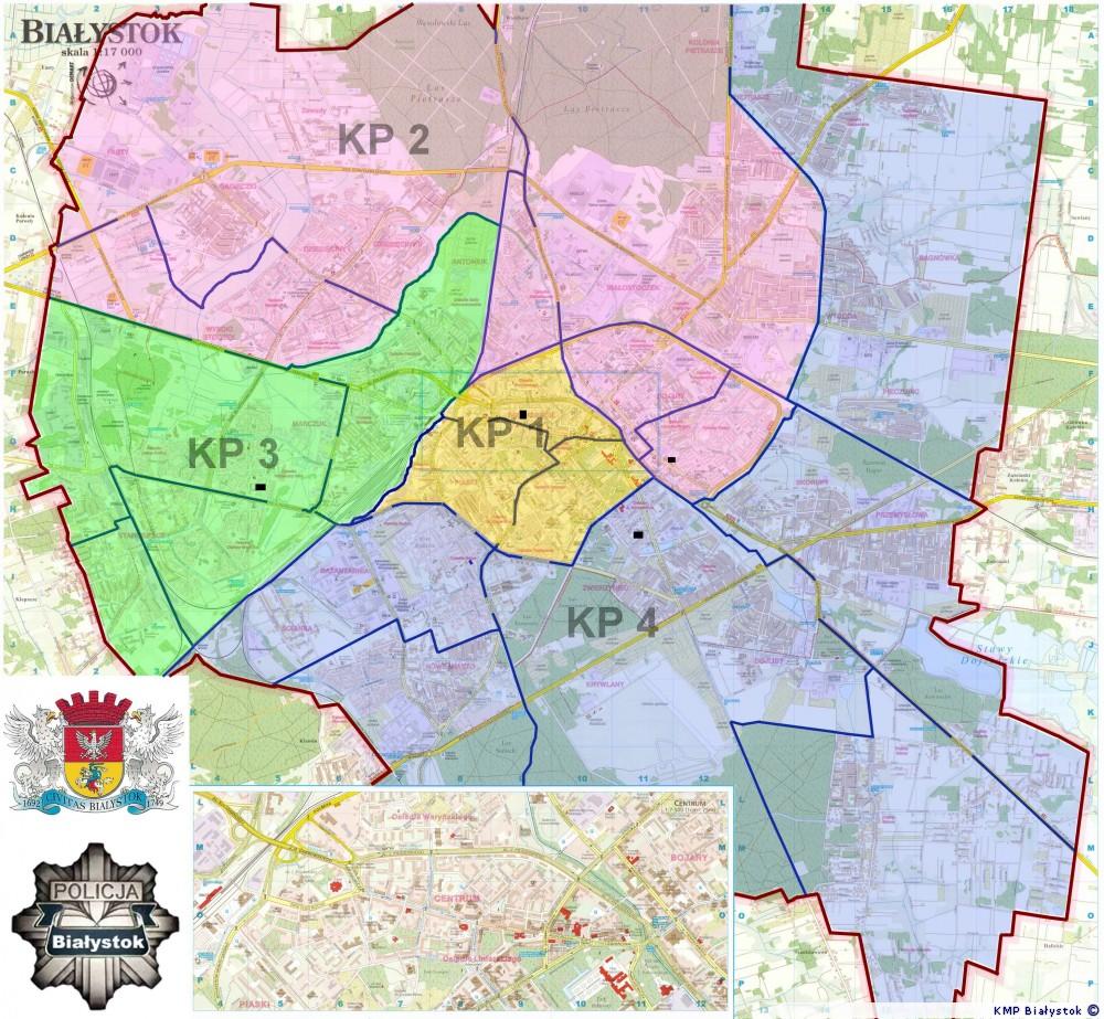 Mapa Bialegostoku Kmp Bialystok